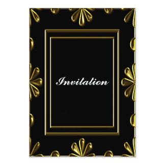 Invitation Elegant women's Birthday Party Black