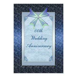 Invitation élégante de fête d'anniversaire carton d'invitation  12,7 cm x 17,78 cm