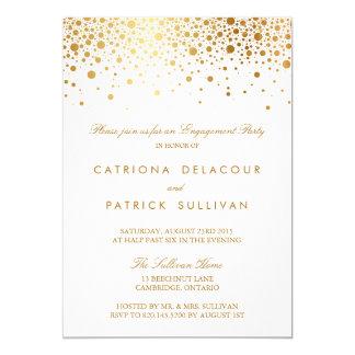 Invitation élégante de partie de fiançailles de carton d'invitation  12,7 cm x 17,78 cm