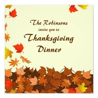 Invitation en baisse coloré de dîner de