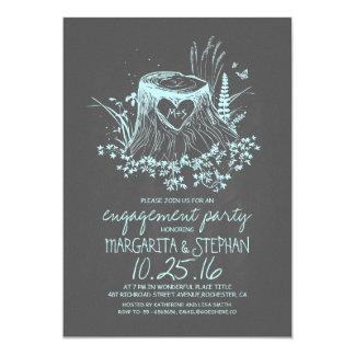 Invitation en bois rustique de partie de carton d'invitation  12,7 cm x 17,78 cm