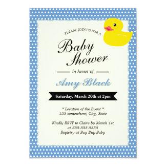 Invitation en caoutchouc mignonne de baby shower
