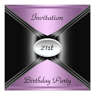 Invitation Envelope Any Birthday Purple color