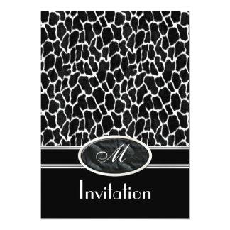 Invitation Exotic Prints Cow