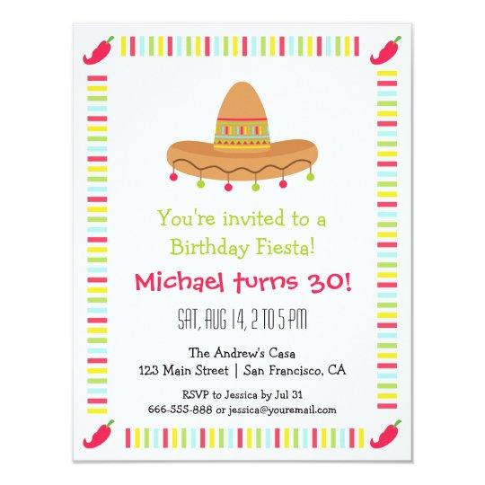 Invitation Fete D Anniversaire Adulte De Fiesta Mexicaine De Zazzle Ca