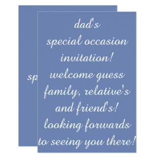 invitation flat card