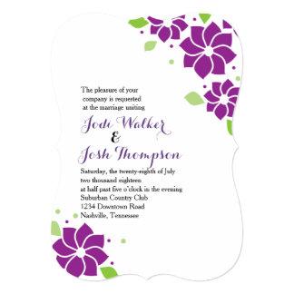 Invitation floral violet de mariage
