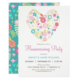 Invitation florale de partie de pendaison de