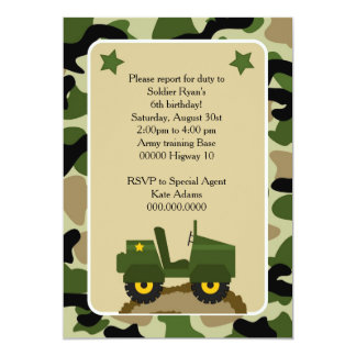 Invitation for military holiday Welded camuflage