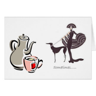 Invitation for Tea - Greyhound and Fancy Lady