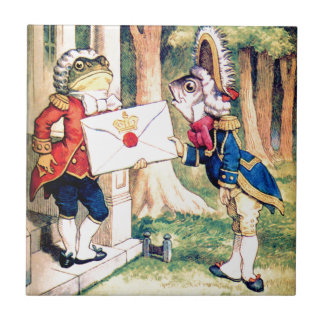 Invitation From the Queen of Hearts in Wonderland Tile