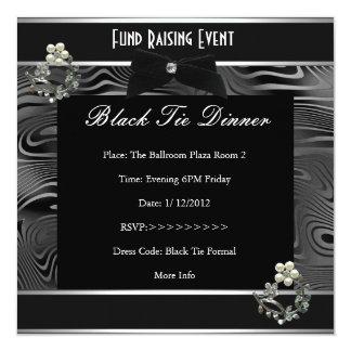 Invitation Fund Raiser Formal Black Tie
