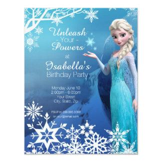 Invitation gelée d'anniversaire d'Elsa