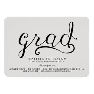 Invitation grise d'obtention du diplôme de diplômé