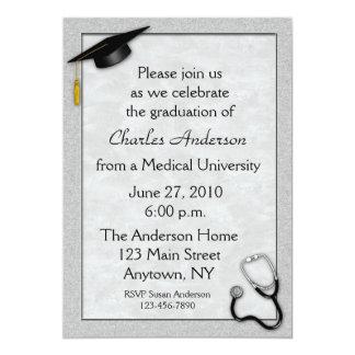 Invitation grise médicale d'obtention du diplôme
