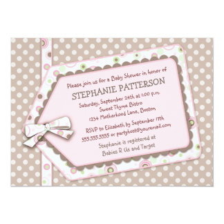 Invitation heureuse de baby shower de fille