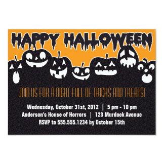 Invitation heureuse de partie de Halloween Carton D'invitation 12,7 Cm X 17,78 Cm