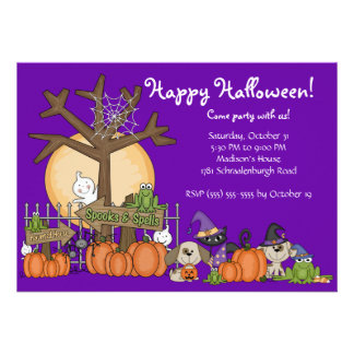 Invitation heureuse mignonne de partie de Hallowee