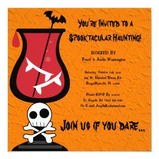 Invitation heureux de partie de Halloween Carton D'invitation 13,33 Cm