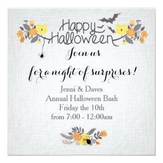 Invitation heureux de partie de Halloween