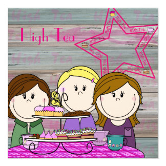 Invitation - high Tea - party Girls