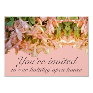 Invitation Holiday Open House Christmas Cactus