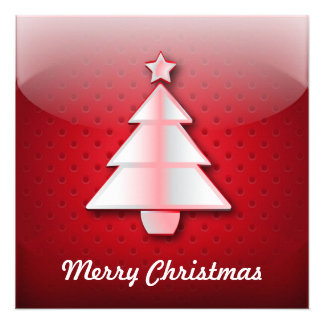 Invitation icon Christmas tree