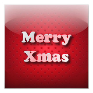 """Invitation icon Merry Christmas 5.25"""" Square Invitation Card"""