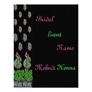 Invitation Indian Mehndi Green Black