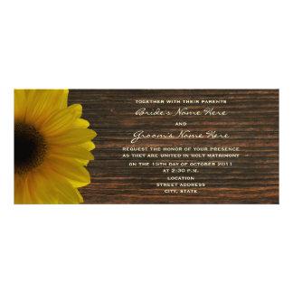 Invitation jaune de tournesol et de mariage de aut