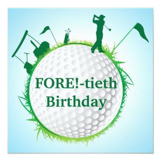 Invitation jouante au golf de l'anniversaire des