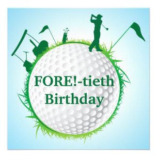 Invitation jouante au golf de l'anniversaire des h