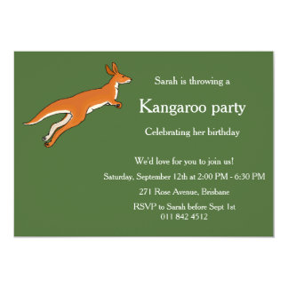 Invitation kangaroo theme party. Custom Template