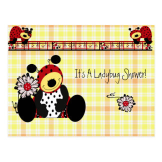 Invitation ...Ladybug Shower Postcard
