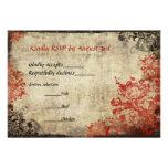 Invitation l'épousant vintage des roses rouges RSV