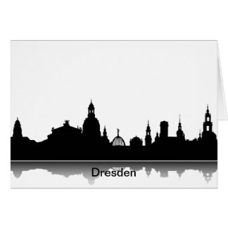 Invitation map with Dresden Skyline.
