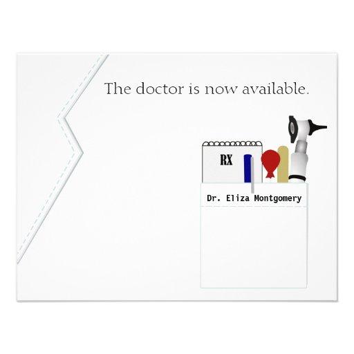 Invitation médicale de fête de remise des diplômes