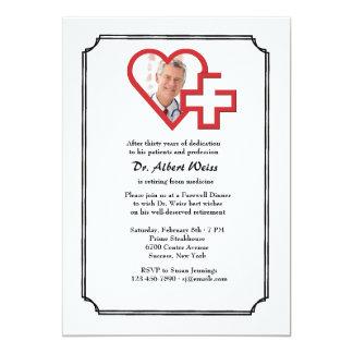 Invitation médicale de photo de partie de retraite carton d'invitation  12,7 cm x 17,78 cm