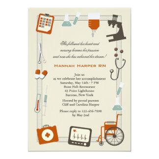 Invitation médicale d'obtention du diplôme d'école