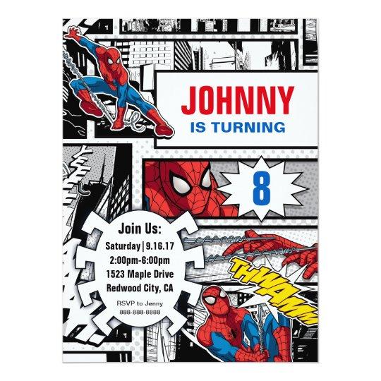 Invitation Merveille Spiderman Anniversaire