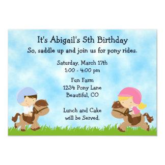 Invitation mignon d'anniversaire de cheval de