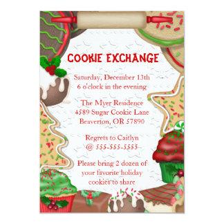 Invitation mignon de vacances d'échange de biscuit