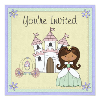 Invitation mignonne d'anniversaire de princesse