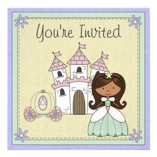 Invitation mignonne d'anniversaire de princesse co
