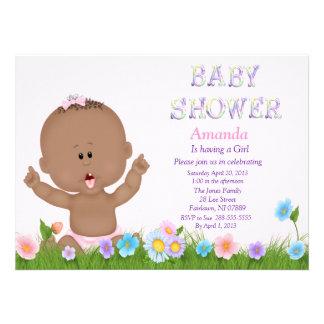 Invitation mignonne de baby shower de bébé