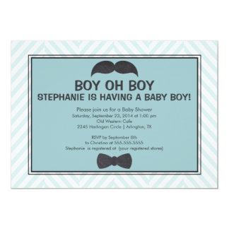 Invitation mignonne de baby shower de garçons de