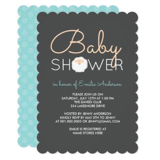 Invitation mignonne de baby shower de moutons