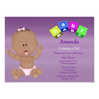 Invitation mignonne de douche de blocs de bébé de
