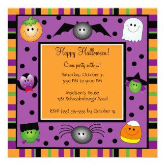 Invitation mignonne de partie de Halloween pour de