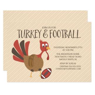 Invitation mignonne de thanksgiving de la Turquie